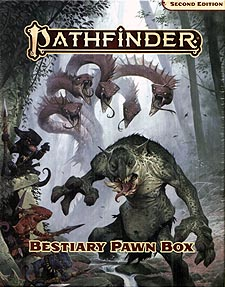 Spirit Games (Est. 1984) - Supplying role playing games (RPG), wargames rules, miniatures and scenery, new and traditional board and card games for the last 20 years sells Pathfinder Pawns: Bestiary Pawn Box